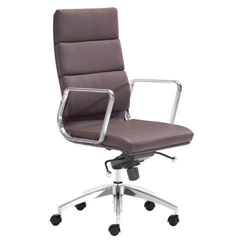 Astounding Modern Sleek Adjustable High Back Office Chair Espresso Zm Home Pabps2019 Chair Design Images Pabps2019Com