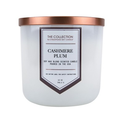 12oz Jar Candle Cashmere Plum - The Collection By Chesapeake Bay Candle