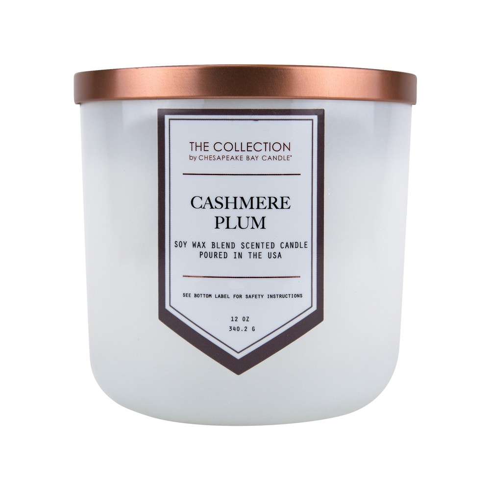 Image of 12oz Jar Candle Cashmere Plum - The Collection By Chesapeake Bay Candle, Clear