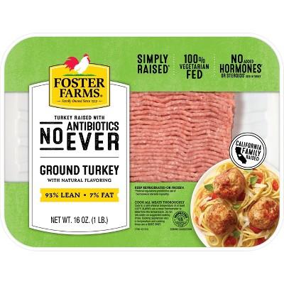 Foster Farms Simply Raised Ground Turkey - 1lb