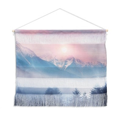 "11pc 22"" x 16"" Viviana Gonzalez Pastels Landscape Wall Hanging Pink - Deny Designs"
