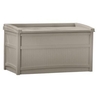 Premium Deck Box With Seat 50 Gallon - Tan - Suncast