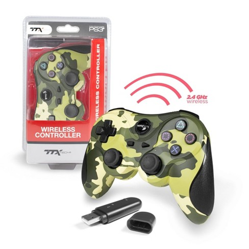TTX Tech Wireless USB Controller Compatible with PS3, Green Camouflage - image 1 of 1