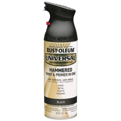 Rust-Oleum 12oz Universal Hammered Spray Paint Black - image 1 of 3