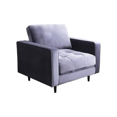 Remarkable Marie Tufted Velvet Armchair Charcoal Gray Abbyson Living Uwap Interior Chair Design Uwaporg