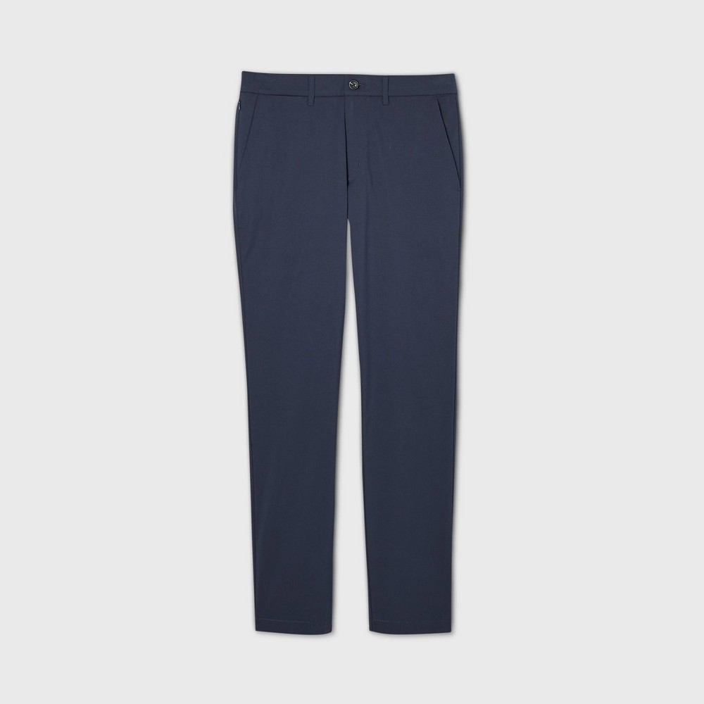 Men 39 S Athletic Fit Hennepin Tech Chino Pants Goodfellow 38 Co 8482 Blue 28x32