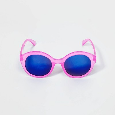 Girls' Mirror Lens Sunglasses - Cat & Jack™ Purple/Blue