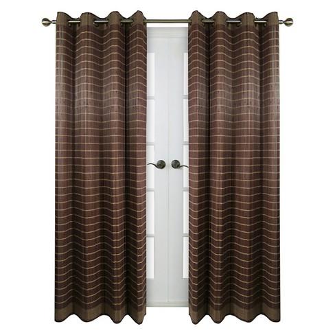 Curtain Panel Bamboo Grommet Top Walnut Versailles