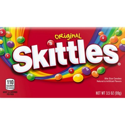 Skittles Original Theater Box Bite Size Candies - 3.5oz
