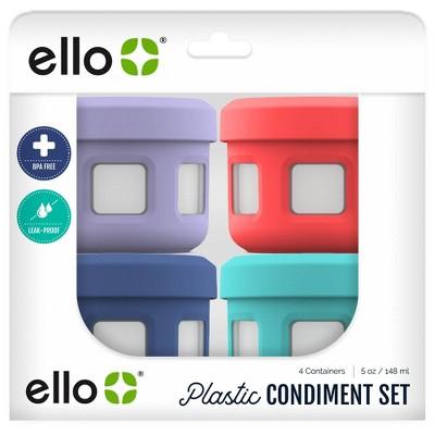 Ello 8pc Plastic Condiment Set