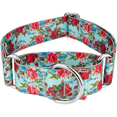 Country Brook Petz® 1 1/2 Inch Vintage Roses Martingale Dog Collar