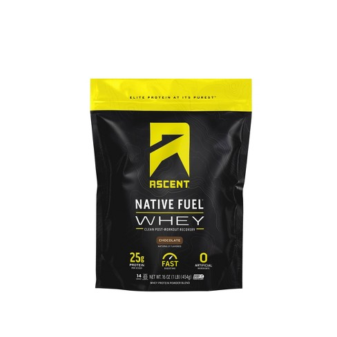 Ascent Native Fuel Whey Protein Powder - Chocolate - 1lbs - image 1 of 3