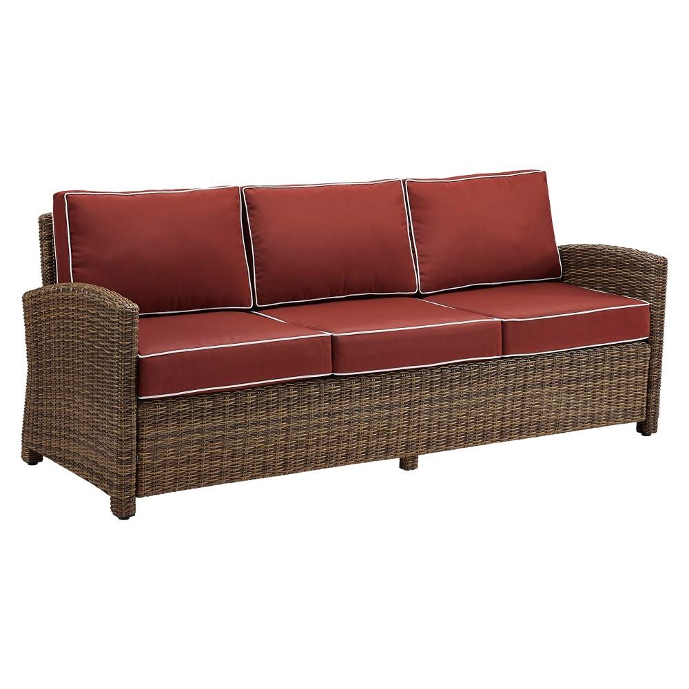 Bradenton Outdoor Wicker Sofa - Sangria - Crosley
