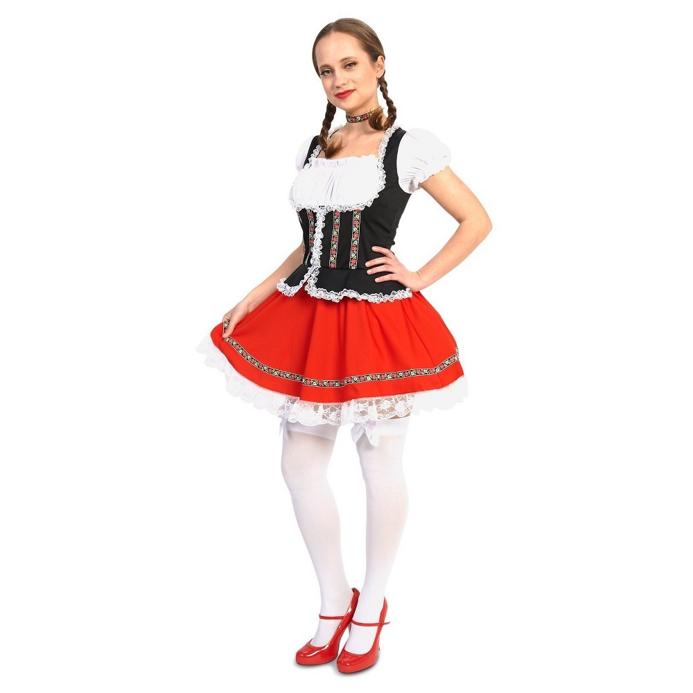 Image of Halloween Women's Beer Garden Girl Adult Costume S, Size: Small, MultiColored