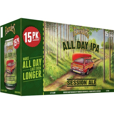 Founders All Day IPA Beer - 15pk/12 fl oz Cans - image 1 of 2