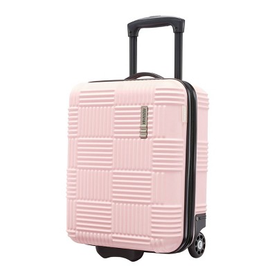 American Tourister Checkered Hardside Underseat Suitcase