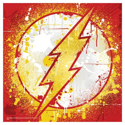 DC Comics Flash Splatter 12x12 Wall Décor - image 1 of 1