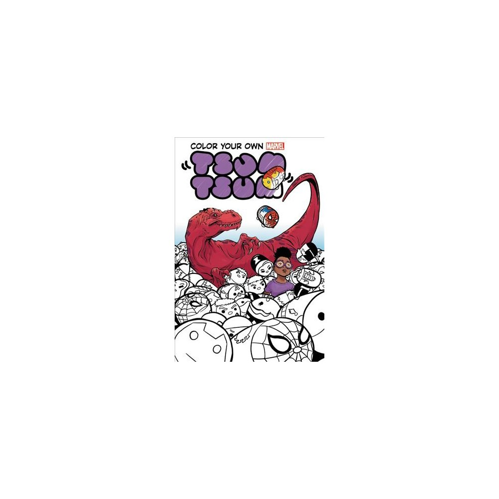Color Your Own Marvel Tsum Tsum - (Paperback)