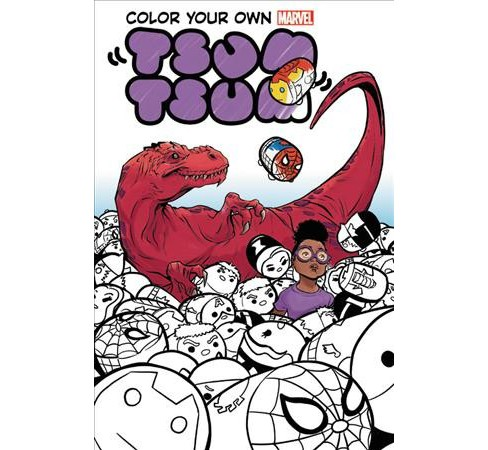 Color Your Own Marvel Tsum Tsum (Paperback) (David Baldeon & Various) - image 1 of 1