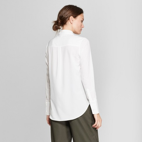 Women's Long Sleeve Collared Button-Down Blouse - Prologue™