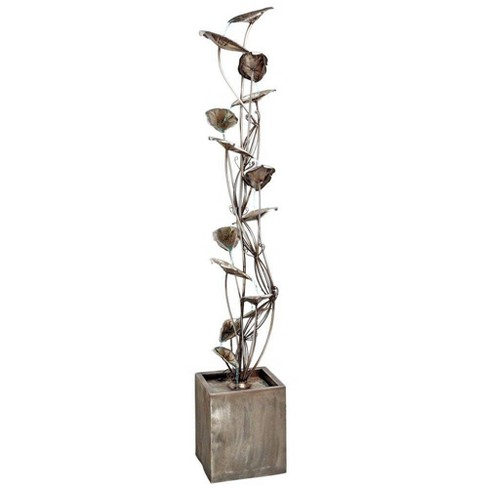 Wandering Leaf Cascading Metal Tower Fountain - Acorn Hollow - image 1 of 3