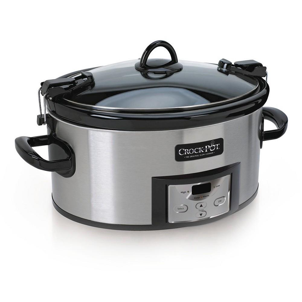 Crock-Pot 6qt Programmable Cook & Carry Slow Cooker – Silver SCCPVL610T 17440749