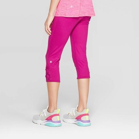 803f8a1fc368b0 Girls' Lattice Capri Leggings - C9 Champion® Magenta XL : Target
