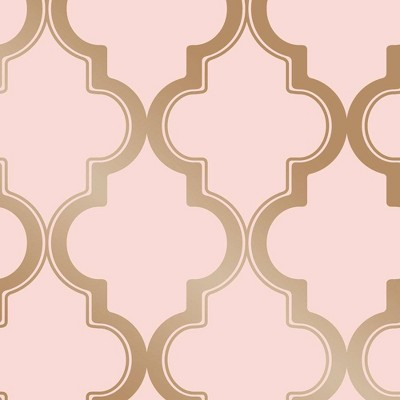 Tempaper Marrakesh Self-Adhesive Removable Wallpaper Pink/Gold