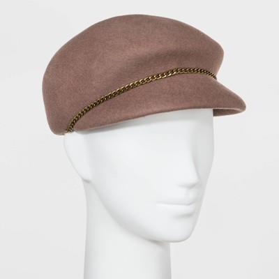 Women's Chain Detail Captain Hat - A New Day™ Brown One Size