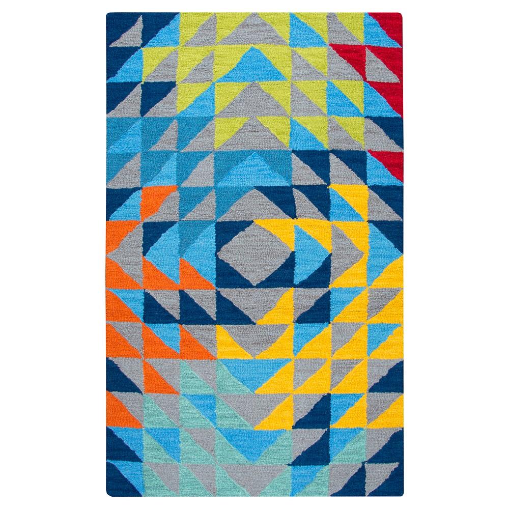 Triangle Geo Area Rug (5'x7') - Rizzy Home, Gray