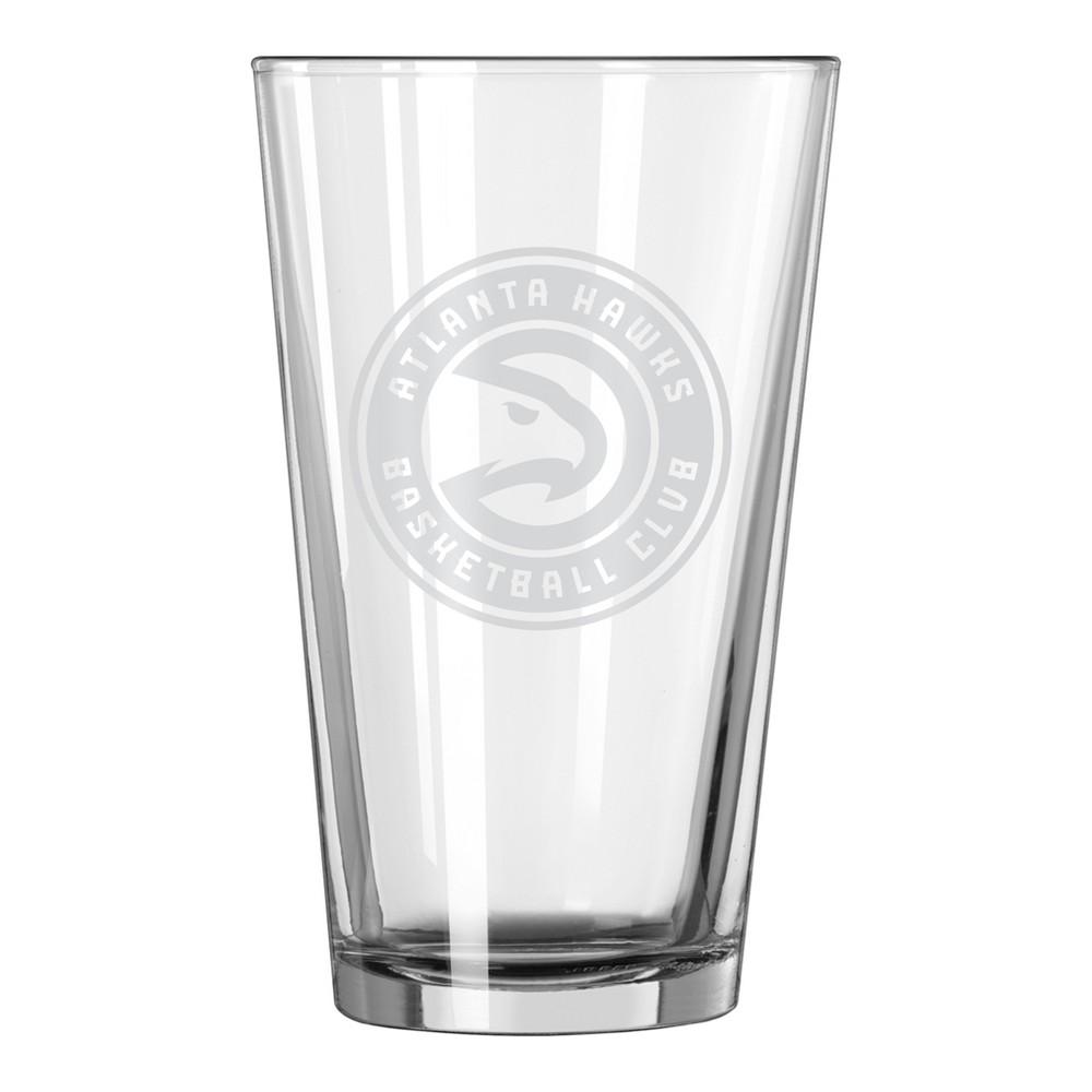 NBA Atlanta Hawks 16oz Satin Etch Pint Glass