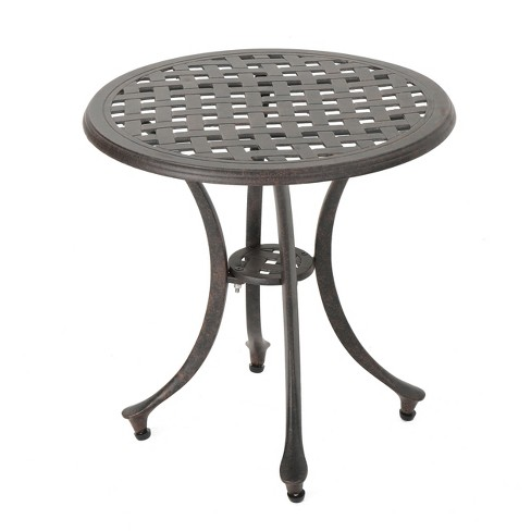 Lola 19 Cast Aluminum Side Table Bronze Christopher Knight Home Target