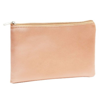 Juvale 2x Rose Gold Cosmetic Makeup Zipper Bag Pouch for Stationery Office Travel