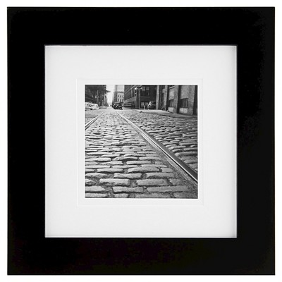 Gallery Solutions Matted 8  x 8  Frame - Black