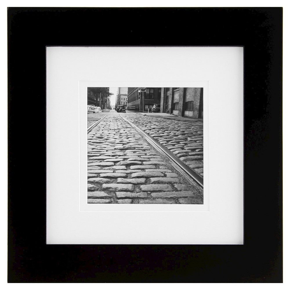"Image of ""Gallery Solutions Matted 8"""" x 8"""" Frame - Black"""