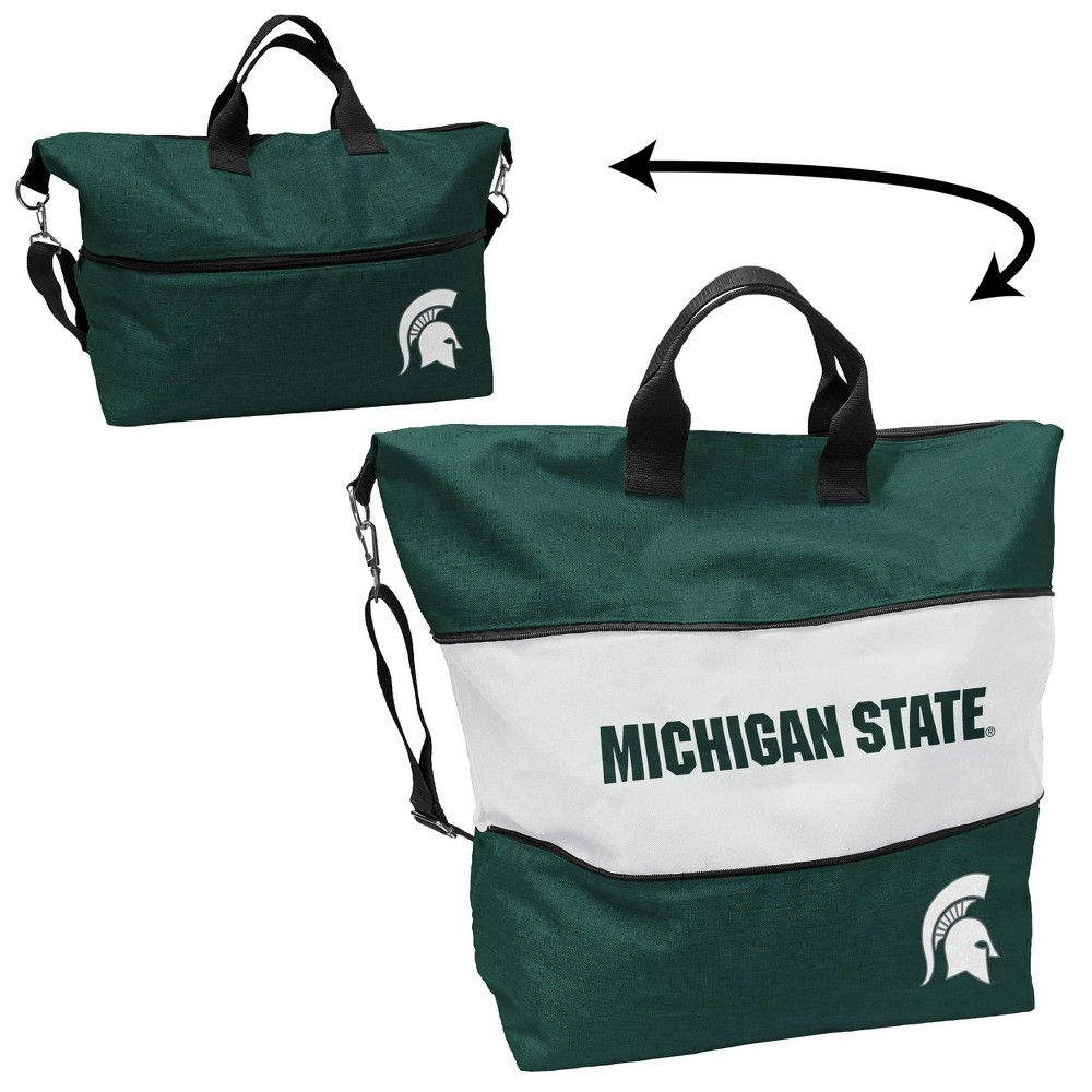 Ncaa Michigan State Spartans Crosshatch Expandable Tote