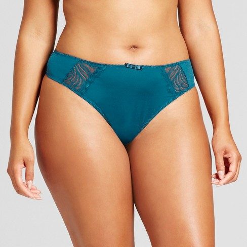 8fa326a28f259 Women s Plus Size Thong - Ava   Viv™ Deep Teal - 1X   Target