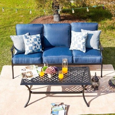 2pc Sofa and Coffee Table Patio Seating Set - Patio Festival