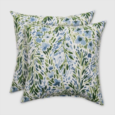 2pk Square Sammamish Floral Outdoor Pillow   Threshold™ : Target