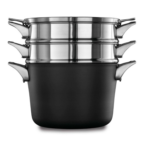 Calphalon Premier 8qt Hard Anodized Nonstick Space Saving Multi-Pot With Cover - image 1 of 2