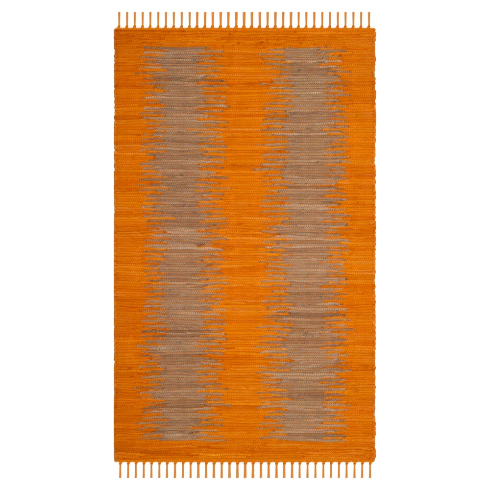Orange Geometric Flatweave Woven Accent Rug 2'6X4' - Safavieh
