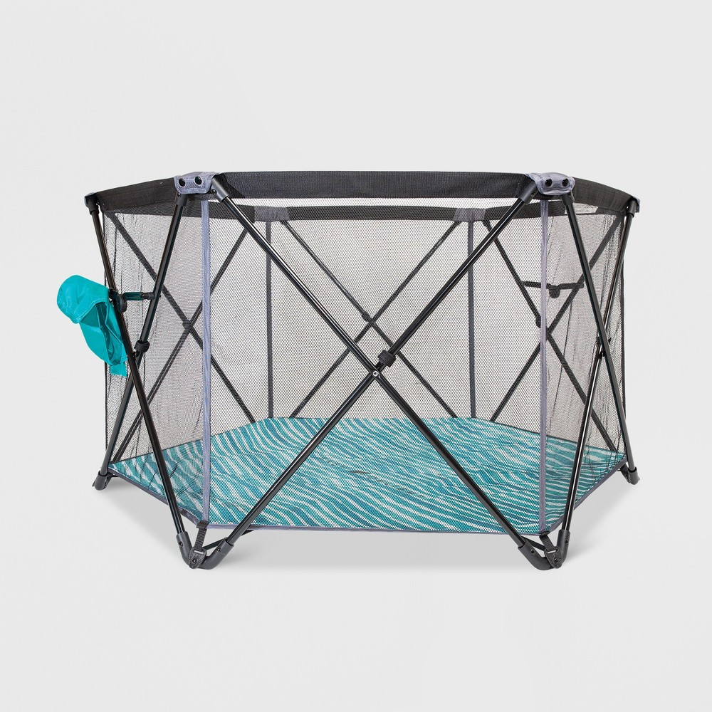 Image of Baby Delight Go With Me Haven Portable Playard, Green Gray Black