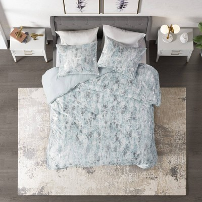 Pearl Metallic Printed Velvet Bedding Collection