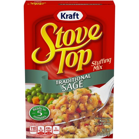 Stove Top Traditional Sage Stuffing Mix 6 Oz Target