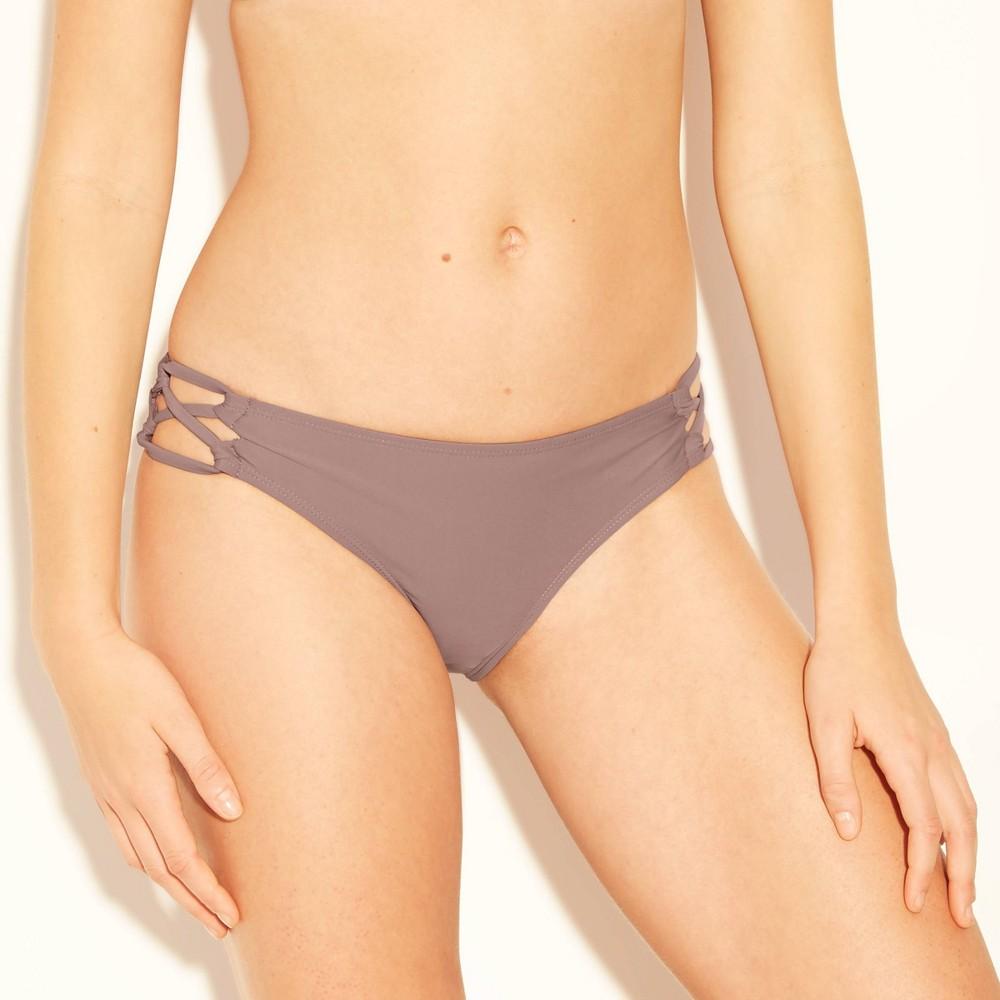 Women's Strappy Cheeky Hipster Bikini Bottom - Xhilaration Purple L