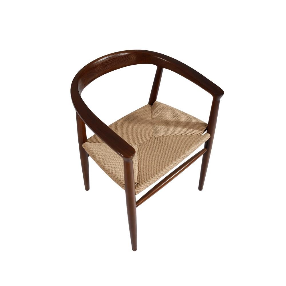 Mala Mid Century Dining Chair Walnut/Natural (Brown/Natural) - Buylateral