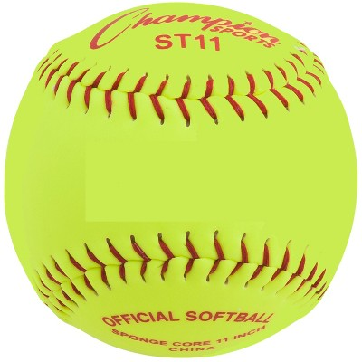 Champion Safety Softball, 11 Inches, Yellow, pk of 12