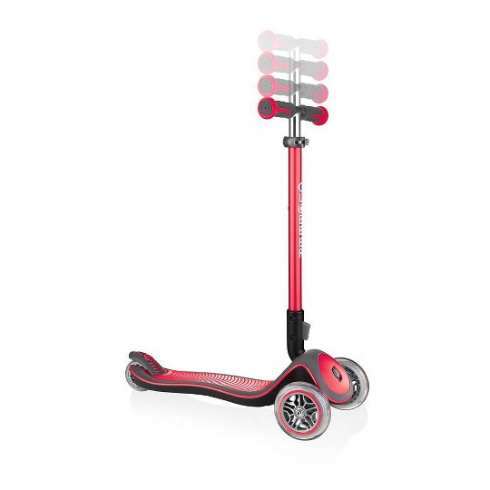 Globber Elite Deluxe Kick Scooter - Red, Kids Unisex image number null