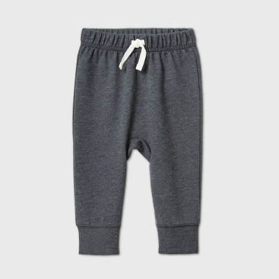 Baby Boys' Jogger Pull-On Pants - Cat & Jack™ Charcoal Gray 0-3M