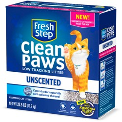 Fresh Step - Clean Paws Unscented Clumping Cat Litter - 22.5lb